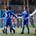 25-03-2017: Voetbal: Almere City FC O13 v de Foresters O13: Almere (L-R) Chay Gerber (Almere City FC O13), Dychayro Naarendorp (Almere City FC O13), Younes Ahrouch (Almere City FC O13) Seizoen 2016 / 2017