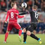 31-03-2017: Voetbal: Almere City FC v Telstar: Almere (L-R) Jeffrey Rijsdijk (Almere City FC), Donny van Iperen (SC Telstar) Jupiler League 2016 / 2017