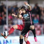 31-03-2017: Voetbal: Almere City FC v Telstar: Almere (L-R) Rick ten Voorde (Almere City FC), Jordy Tutuarima (SC Telstar) Jupiler League 2016 / 2017