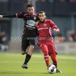 31-03-2017: Voetbal: Almere City FC v Telstar: Almere (L-R) Mohammed Ajnane (SC Telstar), Soufyan Ahannach (Almere City FC) Jupiler League 2016 / 2017