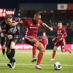 31-03-2017: Voetbal: Almere City FC v Telstar: Almere (L-R) Benjamin van den Broek (SC Telstar),Sherjill Mac-Donalds (Almere City FC) Jupiler League 2016 / 2017