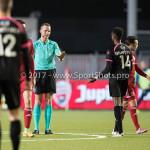 31-03-2017: Voetbal: Almere City FC v Telstar: Almere (L-R) Freek van Herk (Scheidsrechter), Liban Abdulahi (SC Telstar) Jupiler League 2016 / 2017