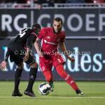 31-03-2017: Voetbal: Almere City FC v Telstar: Almere (L-R) Calvin Valies (SC Telstar), Soufyan Ahannach (Almere City FC) Jupiler League 2016 / 2017