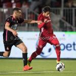 31-03-2017: Voetbal: Almere City FC v Telstar: Almere (L-R) Oussama Zamouri (SC Telstar), Yener Arica (Almere City FC) Jupiler League 2016 / 2017
