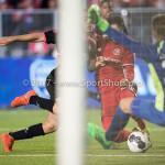 31-03-2017: Voetbal: Almere City FC v Telstar: Almere (L-R) Oussama Zamouri (SC Telstar), Yener Arica (Almere City FC), Boy de Jong (SC Telstar) Jupiler League 2016 / 2017