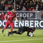 31-03-2017: Voetbal: Almere City FC v Telstar: Almere (L-R) Soufyan Ahannach (Almere City FC), Calvin Valies (SC Telstar) Jupiler League 2016 / 2017