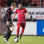 31-03-2017: Voetbal: Almere City FC v Telstar: Almere (L-R) Benjamin van den Broek (SC Telstar), Soufyan Ahannach (Almere City FC) Jupiler League 2016 / 2017