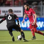 31-03-2017: Voetbal: Almere City FC v Telstar: Almere (L-R) Frank Korpershoek (SC Telstar), Soufyan Ahannach (Almere City FC) Jupiler League 2016 / 2017