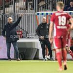 31-03-2017: Voetbal: Almere City FC v Telstar: Almere (L-R) Jack de Gier - Technisch manager/Hoofdtrainer (Almere City FC), Marco Heering - Assistent trainer (Almere City FC) Jupiler League 2016 / 2017