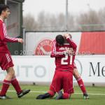 01-04-2017: Voetbal: Almere City FC O19 v NAC O19: Almere (L-R) Adrian Ramadani (Almere City FC O19), Anass Ahannach (Almere City FC O19), Kubilay Koylu (Almere City FC O19) Seizoen 2016 /2017