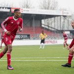 01-04-2017: Voetbal: Almere City FC O19 v NAC O19: Almere (L-R) Ritchie Zinga (Almere City FC O19), Kubilay Koylu (Almere City FC O19) Seizoen 2016 /2017