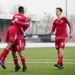 01-04-2017: Voetbal: Almere City FC O19 v NAC O19: Almere (L-R) Ritchie Zinga (Almere City FC O19), Kubilay Koylu (Almere City FC O19), Adrian Ramadani (Almere City FC O19) Seizoen 2016 /2017