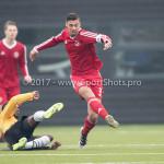 01-04-2017: Voetbal: Almere City FC O19 v NAC O19: Almere Radinio Balker (Almere City FC O19) Seizoen 2016 /2017