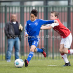 08-04-2017: Voetbal: Almere City FC O11 v MVV O11: Almere Rayan Bachir (Almere City FC O11) Seizoen 2016 /2017