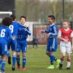 08-04-2017: Voetbal: Almere City FC O11 v MVV O11: Almere (L-R) Eliyah Concencion (Almere City FC O11), Ouail Haddouch (Almere City FC O11), Rayan Bachir (Almere City FC O11), Maher Kaluf (Almere City FC O11) Seizoen 2016 /2017