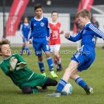 08-04-2017: Voetbal: Almere City FC O11 v MVV O11: Almere Noah Staats (Almere City FC O11) Seizoen 2016 /2017