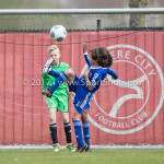 08-04-2017: Voetbal: Almere City FC O11 v MVV O11: Almere (L-R) Rens Hut (Almere City FC O11), Samir Fassi Ait (Almere City FC O11), Eliyah Concencion (Almere City FC O11) Seizoen 2016 /2017