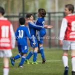 08-04-2017: Voetbal: Almere City FC O11 v MVV O11: Almere (L-R) Joel (Almere City FC O11), Younes Madani (Almere City FC O11), Samir Fassi Ait (Almere City FC O11) Seizoen 2016 /2017