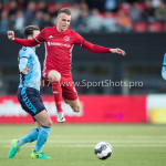 14-04-2017: Voetbal: Almere City FC v Jong FC Utrecht: Almere (L-R) Rick van der Meer (Jong FC Utrecht), Lars Nieuwpoort (Almere City FC) Jupiler League 2016 / 2017