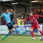 14-04-2017: Voetbal: Almere City FC v Jong FC Utrecht: Almere (L-R) Jan-Willem Tesselaar (Jong FC Utrecht), Paul Quasten (Almere City FC) Jupiler League 2016 / 2017