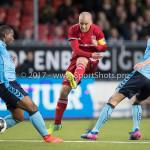 14-04-2017: Voetbal: Almere City FC v Jong FC Utrecht: Almere (L-R) Darren Rosheuvel (Jong FC Utrecht), Kees van Buuren (Almere City FC), Maarten Peijnenburg (Jong FC Utrecht) Jupiler League 2016 / 2017