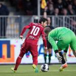 14-04-2017: Voetbal: Almere City FC v Jong FC Utrecht: Almere (L-R) Yener Arica (Almere City FC), Joost Meendering (Jong FC Utrecht) Jupiler League 2016 / 2017