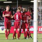 14-04-2017: Voetbal: Almere City FC v Jong FC Utrecht: Almere (L-R) Rick ten Voorde (Almere City FC), Jeffrey Rijsdijk (Almere City FC), Soufyan Ahannach (Almere City FC) Jupiler League 2016 / 2017