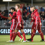 14-04-2017: Voetbal: Almere City FC v Jong FC Utrecht: Almere (L-R) Kees van Buuren (Almere City FC), Yener Arica (Almere City FC), Jeffrey Rijsdijk (Almere City FC), Paul Quasten (Almere City FC), Soufyan Ahannach (Almere City FC) Jupiler League 2016 / 2017