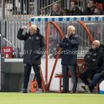14-04-2017: Voetbal: Almere City FC v Jong FC Utrecht: Almere (L-R) Marco Heering - Assistent trainer (Almere City FC), Jack de Gier - Technisch manager/Hoofdtrainer (Almere City FC) Jupiler League 2016 / 2017