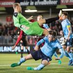 14-04-2017: Voetbal: Almere City FC v Jong FC Utrecht: Almere (L-R) Calvin Mac Intosch (Almere City FC), Joost Meendering (Jong FC Utrecht),Rick van der Meer (Jong FC Utrecht) Jupiler League 2016 / 2017