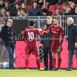 14-04-2017: Voetbal: Almere City FC v Jong FC Utrecht: Almere (L-R) Yener Arica (Almere City FC), Abdel Metalsi (Almere City FC), Jack de Gier - Technisch manager/Hoofdtrainer (Almere City FC) Jupiler League 2016 / 2017