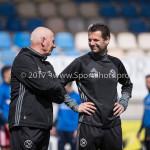 17-04-2017: Voetbal: RKC Waalwijk v Almere City FC: Waalwijk (L-R) Sjouke Tel - Loop & hersteltrainer (Almere City FC), Leo de Wit - Fysiotherapeut (Almere City FC) Jupiler League 2016 / 2017