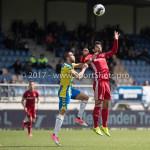 17-04-2017: Voetbal: RKC Waalwijk v Almere City FC: Waalwijk (L-R) Mohamed Mezghrani (RKC Waalwijk), Yener Arica (Almere City FC) Jupiler League 2016 / 2017