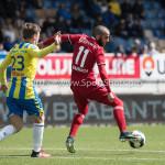 17-04-2017: Voetbal: RKC Waalwijk v Almere City FC: Waalwijk (L-R) Daan Rienstra (RKC Waalwijk), Soufyan Ahannach (Almere City FC) Jupiler League 2016 / 2017