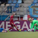 17-04-2017: Voetbal: RKC Waalwijk v Almere City FC: Waalwijk (L-R) Steef Nieuwendaal (RKC Waalwijk), Kees van Buuren (Almere City FC), Chiel Kramer (Almere City FC) Jupiler League 2016 / 2017