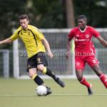 11-07-2017: Voetbal: OFC v Almere City FC: Oostzaan (L-R) Edip Biberoglu (OFC), Delvechio Blackson (Almere City FC) Oefenduel 2017 / 2018