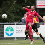 11-07-2017: Voetbal: OFC v Almere City FC: Oostzaan (L-R) Sherjill Mac-Donalds (Almere City FC), Lars Weistra (OFC) Oefenduel 2017 / 2018