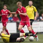 11-07-2017: Voetbal: OFC v Almere City FC: Oostzaan (L-R) Nick Kramer (OFC), Jeffrey Rijsdijk (Almere City FC) Oefenduel 2017 / 2018