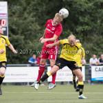 11-07-2017: Voetbal: OFC v Almere City FC: Oostzaan (L-R) Jeffrey Rijsdijk (Almere City FC), Tom Noordhof (OFC) Oefenduel 2017 / 2018
