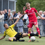 11-07-2017: Voetbal: OFC v Almere City FC: Oostzaan (L-R) Derrin Wijdenbosch (OFC), Silvester van de Water (Almere City FC) Oefenduel 2017 / 2018