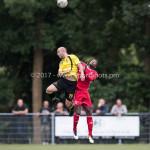 11-07-2017: Voetbal: OFC v Almere City FC: Oostzaan (L-R) Martijn Tjan a Nouk (OFC), Calvin Mac Intosch (Almere City FC) Oefenduel 2017 / 2018