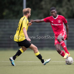 11-07-2017: Voetbal: OFC v Almere City FC: Oostzaan (L-R) Tom Noordhof (OFC), Delvechio Blackson (Almere City FC) Oefenduel 2017 / 2018