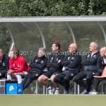 11-07-2017: Voetbal: OFC v Almere City FC: Oostzaan (L-R) Jan Splinter - Keeperstrainer (Almere City FC), Mike Grim (Almere City FC), Roy Gebbink - Teammanager (Almere City FC), Leo de Wit - Fysiotherapeut (Almere City FC), Sjouke Tel - Loop & hersteltrainer (Almere City FC), Jack de Gier - Technisch manager/Hoofdtrainer (Almere City FC), Marco Heering - Assistent trainer (Almere City FC) Oefenduel 2017 / 2018