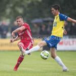14-07-2017: Voetbal: SC Cambuur v Almere City FC: Leeuwarden (L-R) Damon Mirani (Almere City FC), Martijn Barto (SC Cambuur) Oefenduel 2017 / 2018