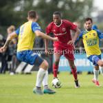 14-07-2017: Voetbal: SC Cambuur v Almere City FC: Leeuwarden (L-R) Arsenio Valpoort (Almere City FC), Stefano Lilipaly (SC Cambuur) Oefenduel 2017 / 2018