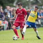 14-07-2017: Voetbal: SC Cambuur v Almere City FC: Leeuwarden (L-R) Charlie Teller (Almere City FC), Justin Mathieu (SC Cambuur) Oefenduel 2017 / 2018