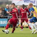 14-07-2017: Voetbal: SC Cambuur v Almere City FC: Leeuwarden (L-R) Tom Overtoom (Almere City FC), Jurjan Mannes (SC Cambuur) Oefenduel 2017 / 2018