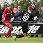 14-07-2017: Voetbal: SC Cambuur v Almere City FC: Leeuwarden (L-R) Jeffrey Rijsdijk (Almere City FC), Pieter Bos (SC Cambuur) Oefenduel 2017 / 2018