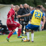 14-07-2017: Voetbal: SC Cambuur v Almere City FC: Leeuwarden (L-R) Kees van Buuren (Almere City FC), Marvin Peersman (SC Cambuur) Oefenduel 2017 / 2018