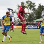 14-07-2017: Voetbal: SC Cambuur v Almere City FC: Leeuwarden (L-R) Marvin Peersman (SC Cambuur), Damon Mirani (Almere City FC), Stefano Lilipaly (SC Cambuur) Oefenduel 2017 / 2018